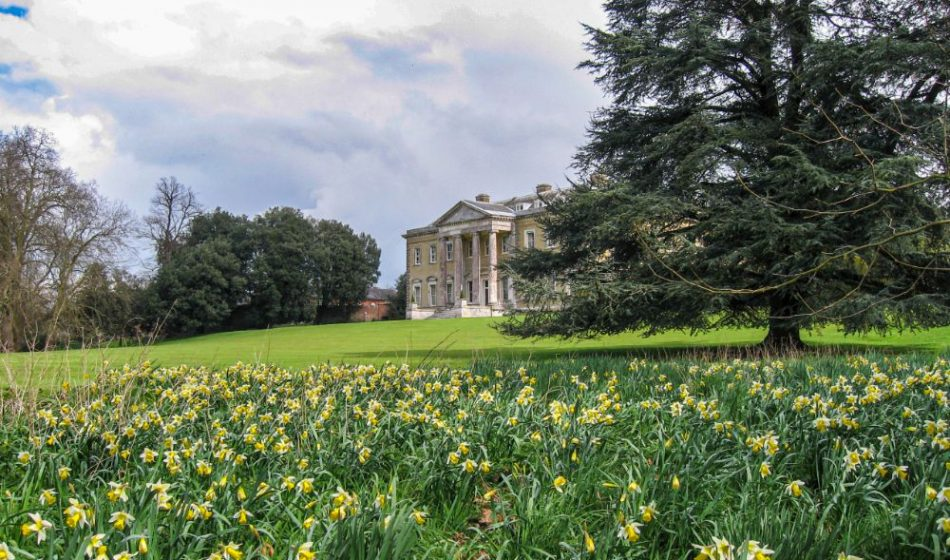 Broadlands Estate Hampshire - Main House with Daffodils in Foreground