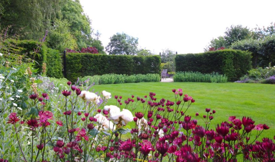Country House, Berkshire - Formal Lawn and Borders