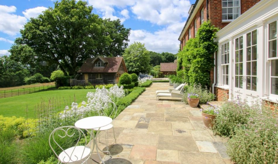 Country House, Berkshire - Long Patio with Seating