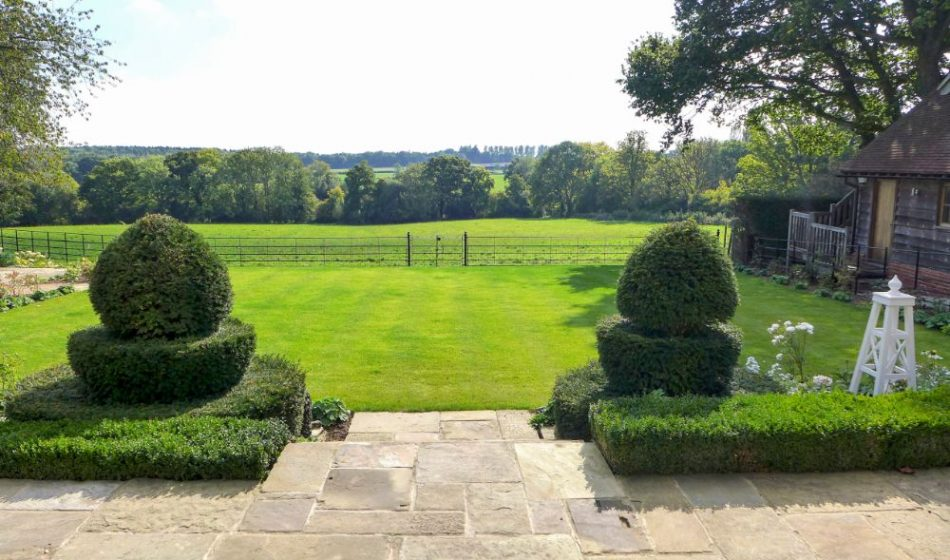 Country House, Berkshire - Topiary Leading to a Lawn with Far Reaching Countryside Views