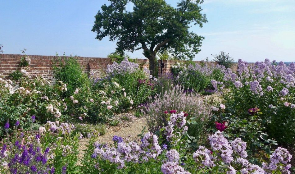 Farmhouse Hampshire - Red Brick Wall with Summer Flower Borders
