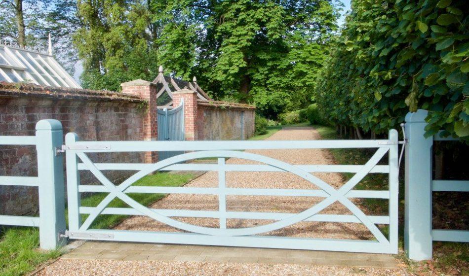 Georgian House, Hampshire Project - Pale Blue Gate