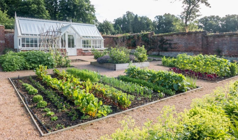 Georgian House, Hampshire Project - Walled Vegetable Garden with Victorian Conservatory