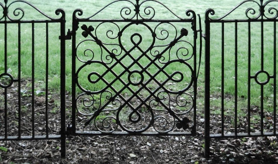 Houghton Lodge Hampshire - Ornate Wrought Iron Garden Gate