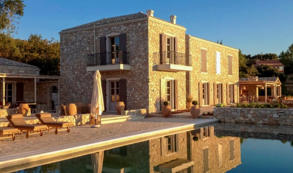Koukos Country Villa, Corfu - Main House and Pool
