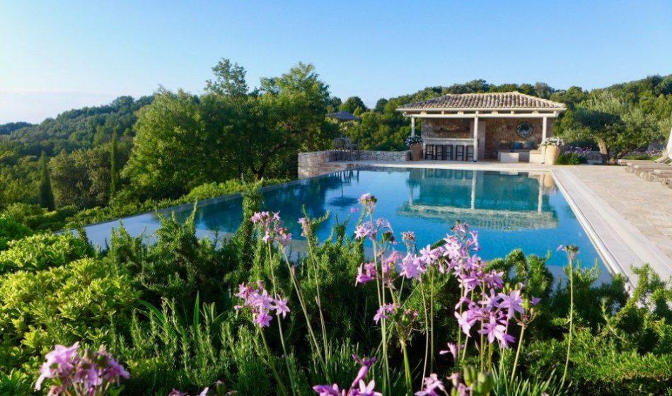Koukos Country Villa, Corfu - Poolside Shrubs and Plants