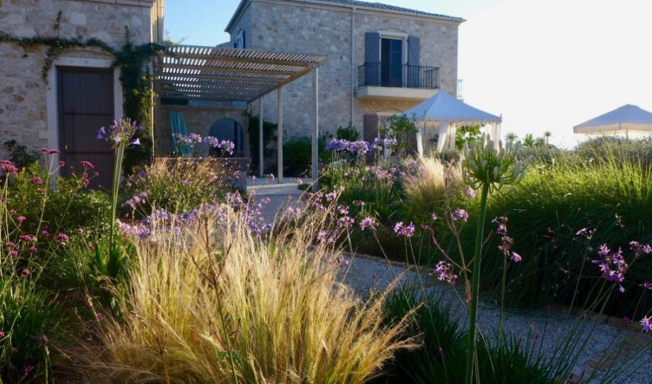 Koukos Country Villa, Corfu - Terrace and Borders