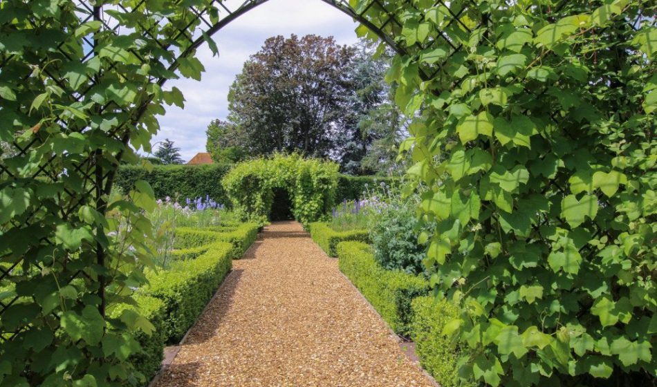 Manor House Hampshire - Garden Trellis in a Formal Garden