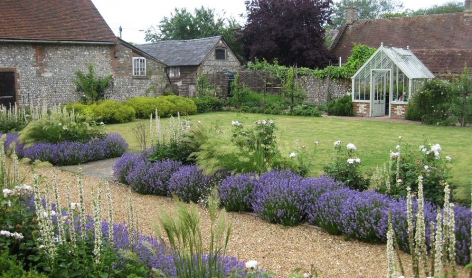 Village House Hampshire - Lavender with Greenhouse in Background