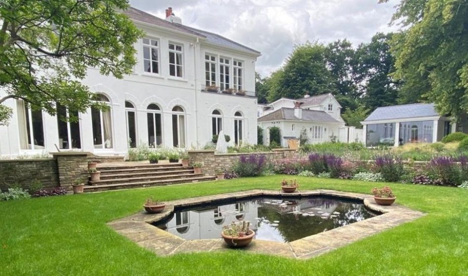 Country House, East Berkshire - Fishpond and House