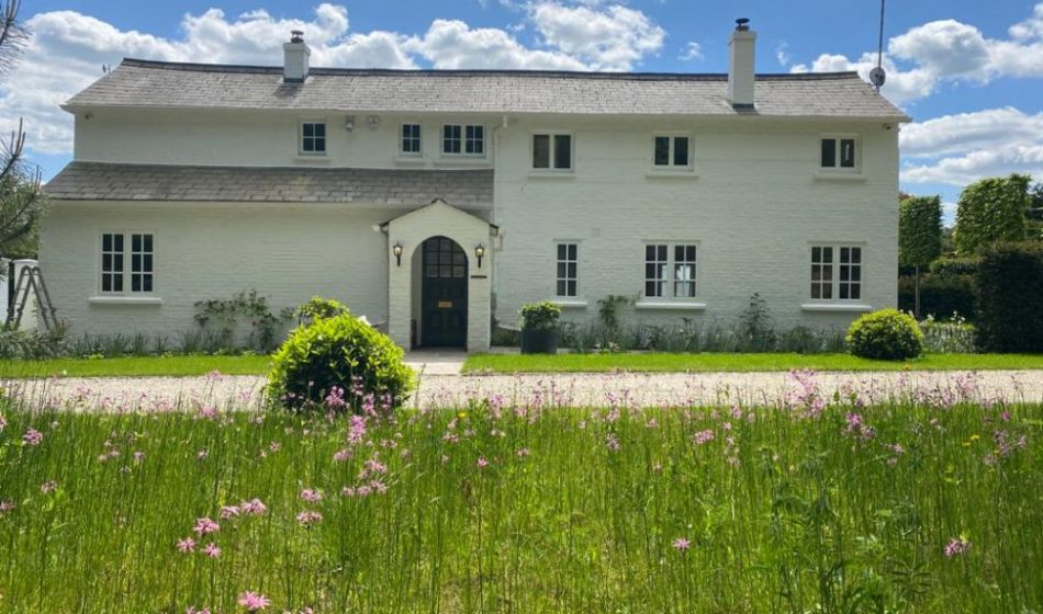 Country House, East Berkshire - Front of House with Grass and Wildflowers