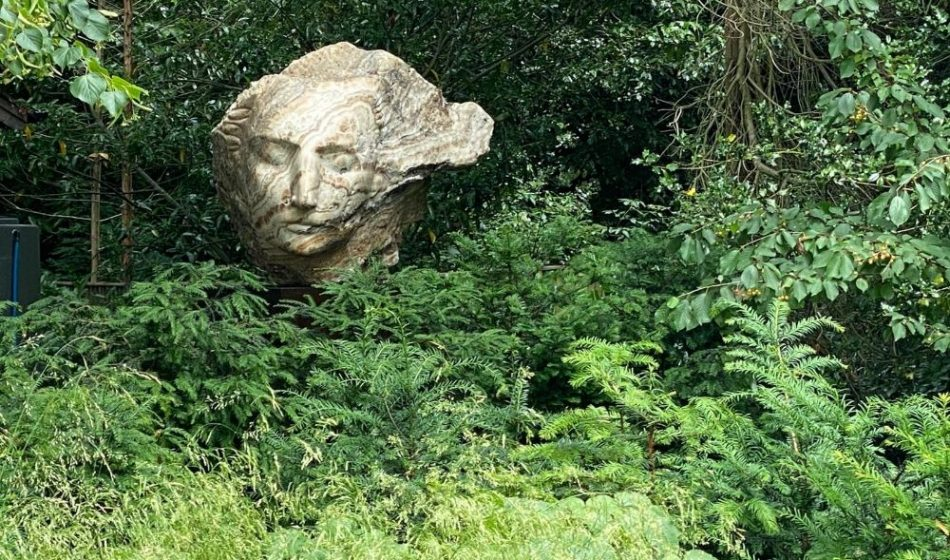 Country House, East Berkshire - Sculpture Surrounded By Trees