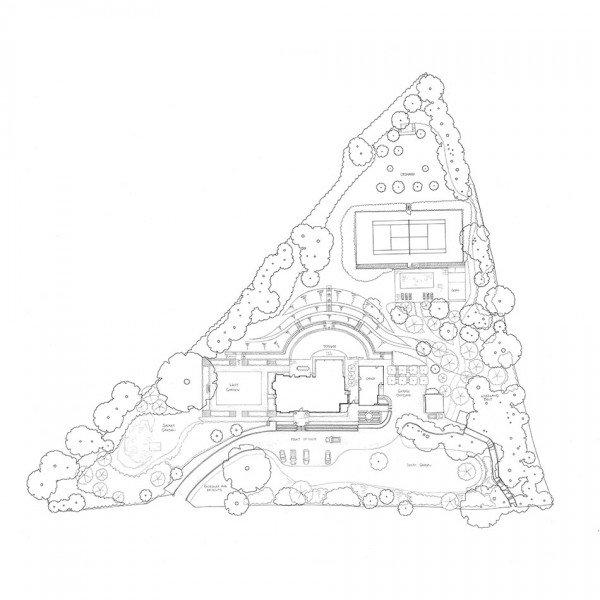 Victorian House Hampshire Garden Design Concept Plan