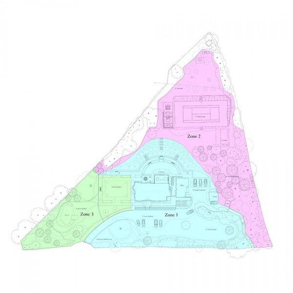 Victorian House Hampshire Garden Design Zone Plan