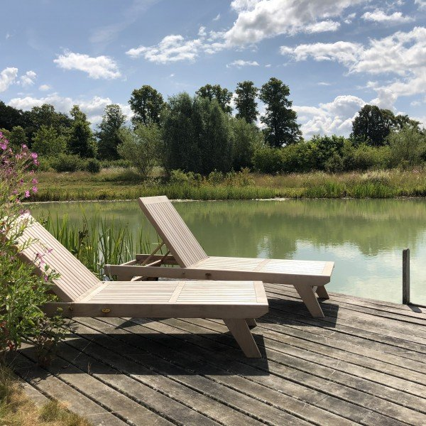Wildlife Pond, Jetty and Wooden Sunloungers