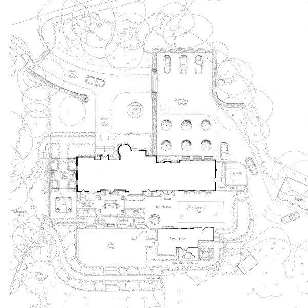 Arts & Crafts House Surrey Garden Design Concept Plan