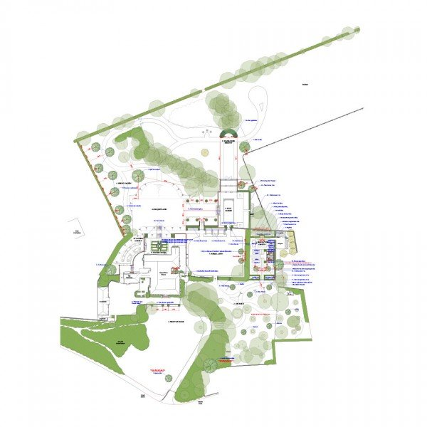 Berkshire Farmhouse Garden Design Structural Plan