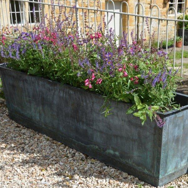 Copper garden planter by Architectural Heritage