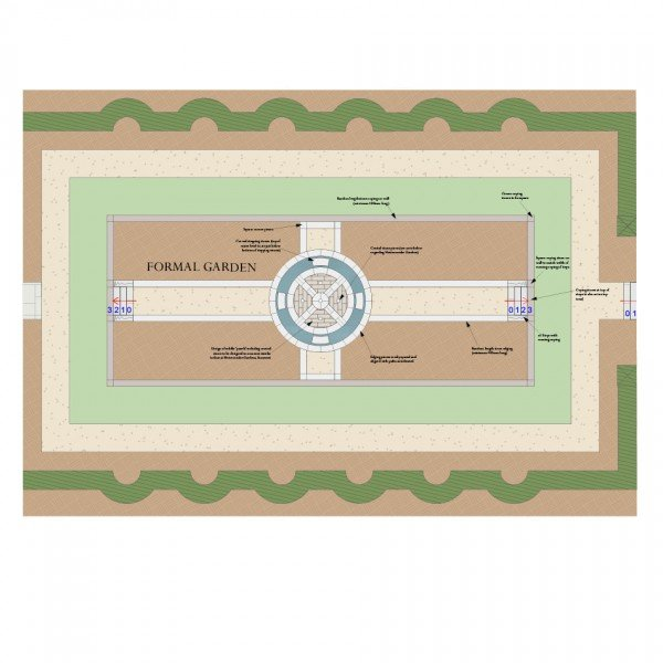 Formal Garden Design Plan for Victorian Villa in Buckinghamshire