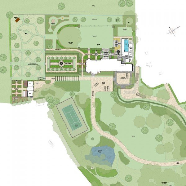 Garden Design Master Plan for a Victorian Italianate Villa in Buckinghamshire