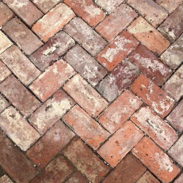 Herringbone reclaimed Red Brick paths